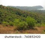 deciduous and coniferous... | Shutterstock . vector #760852420