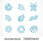 logo set   technology ... | Shutterstock .eps vector #760854643