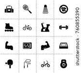 simple 16 set of fitness filled ... | Shutterstock .eps vector #760855390