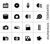 simple 16 set of detail filled... | Shutterstock .eps vector #760856950