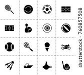 simple 16 set of ball filled... | Shutterstock .eps vector #760857508