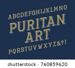 puritan art typeface. retro...