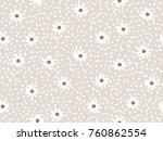 seamless floral pattern in... | Shutterstock .eps vector #760862554