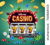 casino banner with a retro... | Shutterstock .eps vector #760868533