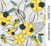 floral seamless pattern | Shutterstock .eps vector #76087126