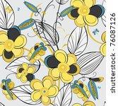 floral seamless pattern   Shutterstock .eps vector #76087126