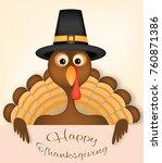 thanksgiving card vector design ... | Shutterstock .eps vector #760871386