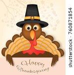 thanksgiving card vector design ... | Shutterstock .eps vector #760871854