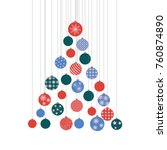 a stylized christmas tree... | Shutterstock . vector #760874890