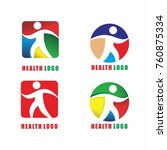 healthlogo template vector icon ... | Shutterstock .eps vector #760875334