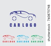 car logo template vector icon... | Shutterstock .eps vector #760875748