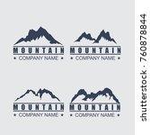 mountain logo template | Shutterstock .eps vector #760878844