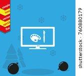 monitor design icon.