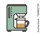 coffee maker flat icon. cafe... | Shutterstock .eps vector #760883710