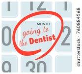 going to dentist inscription on ... | Shutterstock .eps vector #760884568