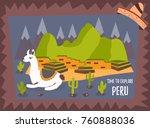Concept Tourist Poster Of Peru...