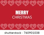 merry chritmas greeting card | Shutterstock . vector #760901038