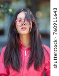 asian woman fashion portrait.... | Shutterstock . vector #760911643