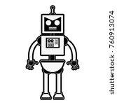 cute robot cartoon | Shutterstock .eps vector #760913074