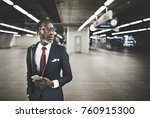 businessman travel passenger... | Shutterstock . vector #760915300
