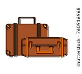 travel luggages isolated | Shutterstock .eps vector #760916968