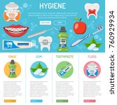 dental hygiene banner and... | Shutterstock .eps vector #760929934