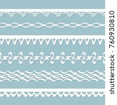 seamless paper laces | Shutterstock .eps vector #760930810