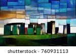 stonehenge. in explanation of... | Shutterstock . vector #760931113
