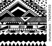 aztec pattern in vector | Shutterstock .eps vector #760934533