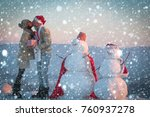 snow christmas new year concept ... | Shutterstock . vector #760937278