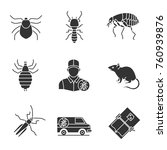 pest control glyph icons set.... | Shutterstock .eps vector #760939876