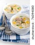 freshly made potato and leek... | Shutterstock . vector #76094080