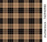 black and beige tartan plaid.... | Shutterstock .eps vector #760940980