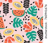stylish seamless pattern with... | Shutterstock .eps vector #760941676