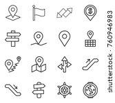 thin line icon set   pointer ... | Shutterstock .eps vector #760946983