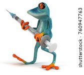 fun frog   3d illustration   Shutterstock . vector #760947763
