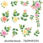 decorative vintage rose and bud.... | Shutterstock .eps vector #760949254