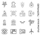 thin line icon set   24 7 ... | Shutterstock .eps vector #760949680