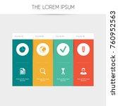set of 8 editable office icons. ...   Shutterstock .eps vector #760952563