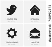 set of 4 editable network icons....