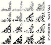 corners  set 2  | Shutterstock .eps vector #760957228