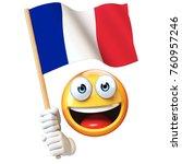 Emoji Holding French Flag ...