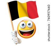 Emoji Holding Belgian Flag ...