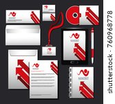 corporate identity mock up | Shutterstock .eps vector #760968778