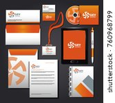 corporate identity mock up | Shutterstock .eps vector #760968799