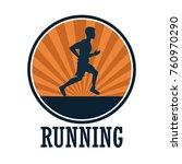 man running sport | Shutterstock .eps vector #760970290