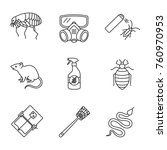 pest control linear icons set.... | Shutterstock .eps vector #760970953