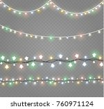 christmas lights isolated on... | Shutterstock .eps vector #760971124