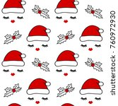 cute seamless vector pattern... | Shutterstock .eps vector #760972930