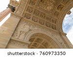 the arc de triomphe du... | Shutterstock . vector #760973350